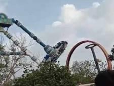 Dode en 29 gewonden: reuzenschommel breekt af in Indiaas pretpark