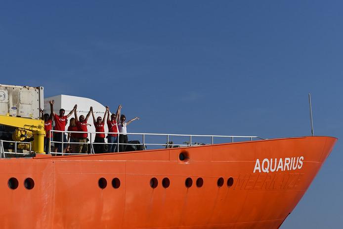 Het schip Aquarius.