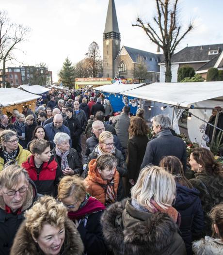 Onstuimig weer op drukbezochte kerstmarkt in Geesteren