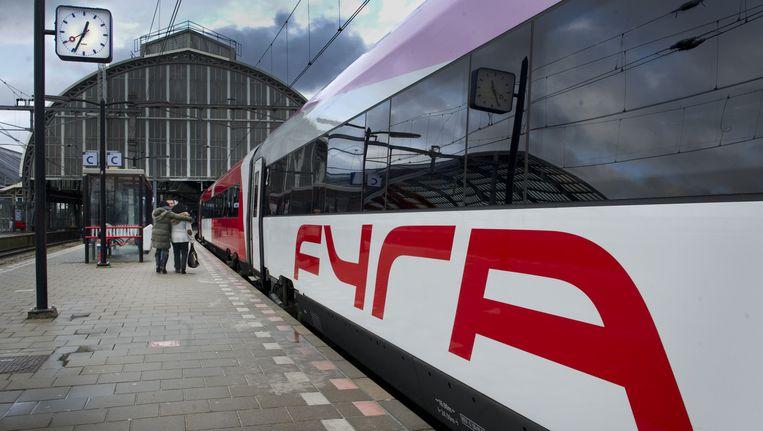 Een Fyra trein op Amsterdam CS. Beeld ANP