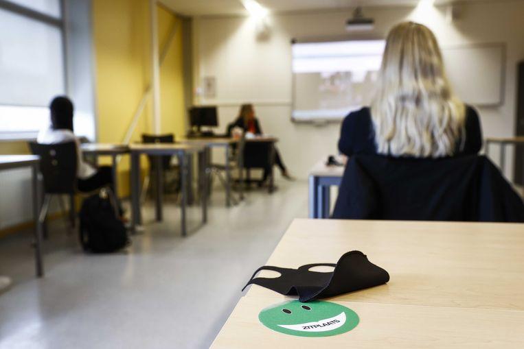 Leerlingen van het ROC van Twente in een les. Beeld ANP