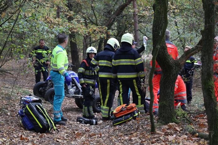 Ongeluk in het bos bij Zeeland.