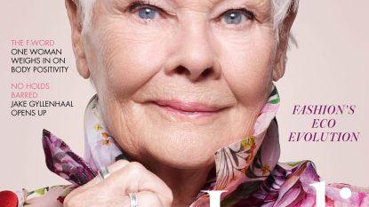 Judi Dench (85) oudste covergirl ooit op Britse 'Vogue'