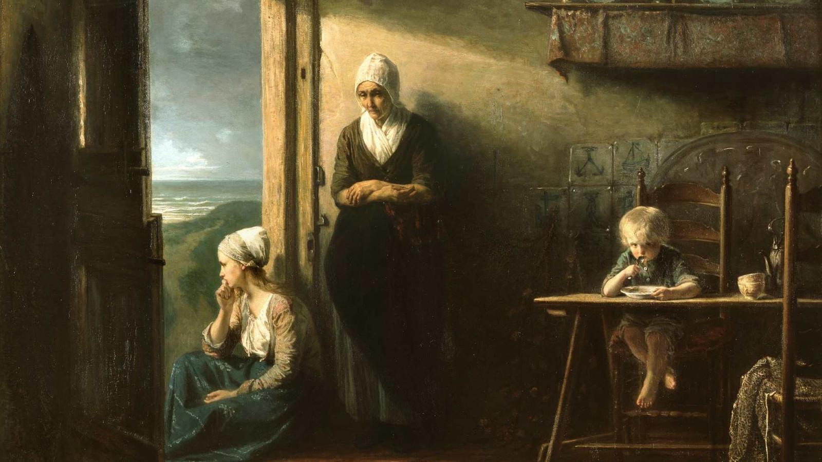 Jozef Israëls schilderde in 1857 een 'stilte na de storm'.