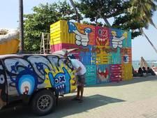 Rotterdamse streetart-kunstenaars fleuren Thaise muren op