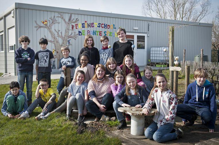 De leerlingen van de Freinetschool De Bonte Specht.