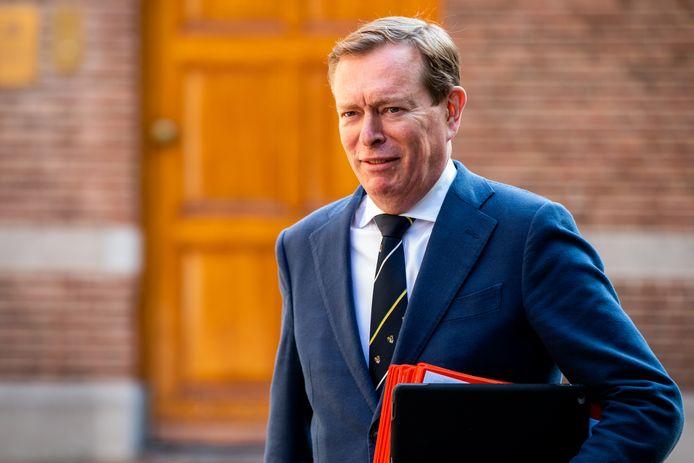 DEN HAAG - Minister Bruno Bruins (Medische Zorg) komt aan bij het ministerie van Algemene Zaken voor de eerste begrotingsraad in aanloop naar Prinsjesdag. COPYRIGHT SEM VAN DER WAL