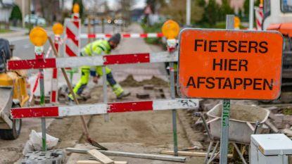 Werken aan fietspad gewestweg N419, gevaarlijke putten worden hersteld