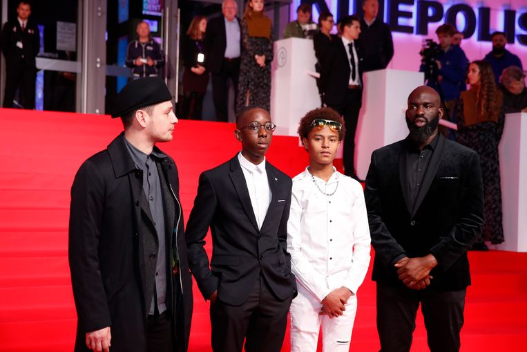 De acteurs van de openingsfilm van het festival