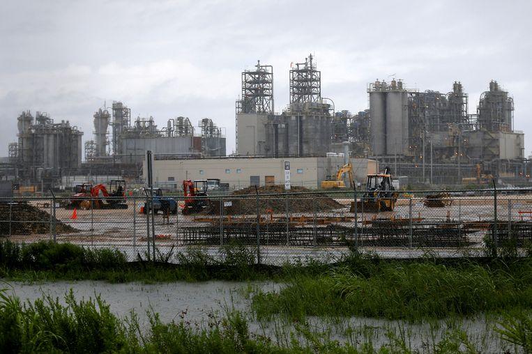 Een chemiefabriek van Exxon in de Amerikaanse staat Texas. Beeld REUTERS