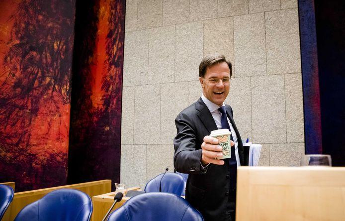 Premier Mark Rutte tijdens de tweede dag van de Algemene Politieke Beschouwingen.