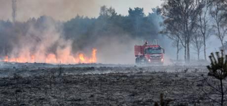 Heidebrand bij Lage Vuursche is mogelijk aangestoken