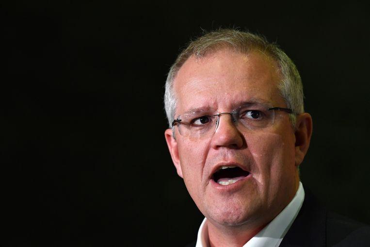 Premier Scott Morrison leidt een centrum-rechtse regering in Australië die een strikt immigratiebeleid voert. Beeld EPA