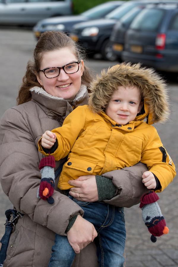 Marielle en zoon Jordy Blom