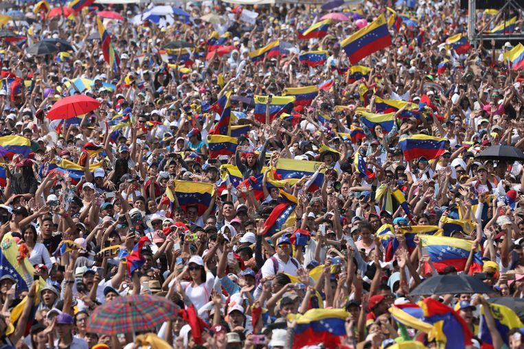 Honderdduizenden mensen woonden het concert in Colombia bij.