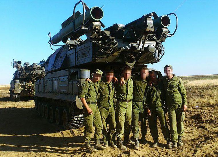 Leden van de 53ste brigade. Beeld Trouw