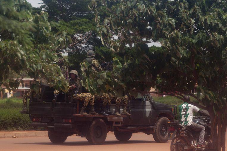 Soldaten in Burkina Faso. (archiefbeeld)