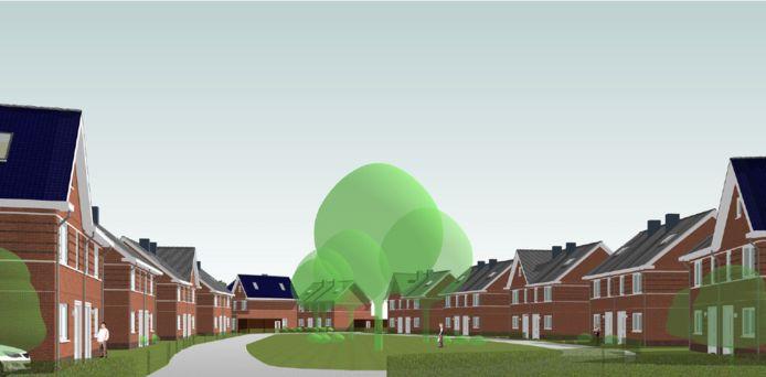 Nieuwbouwplan op locatie van Houthandel Cantrijn in de wijk Doornbos-Linie