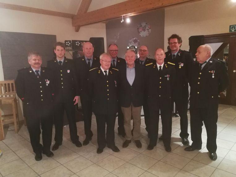 De brandweerlieden werden gehuldigd naar aanleiding van het Sint-Barbarafeest.
