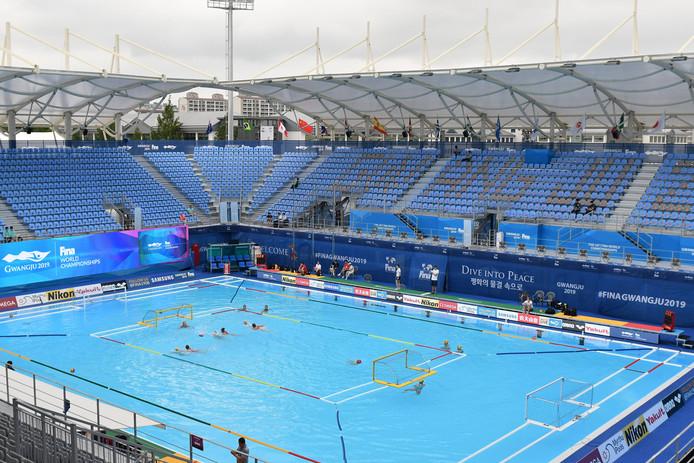 Het stadion in Gwangju, Zuid-Korea.