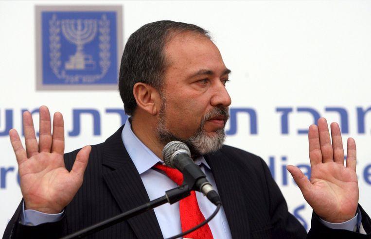 Overeengekomen is dat Lieberman minister van Buitenlandse Zaken wordt en dat zijn partij nog vier kabinetsposten krijgt, waaronder Binnenlandse Veiligheid. Foto EPA Beeld