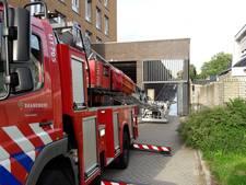 Brandje in oprit naar parkeergarage Jumbo IBB-laan