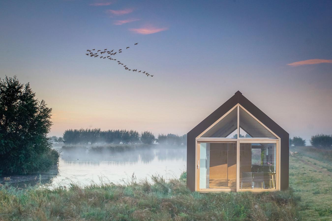 Een hotel in de Hoeksche Waard moet passen in ons landschap. Hotelkamers in tiny houses zouden soelaas kunnen bieden.