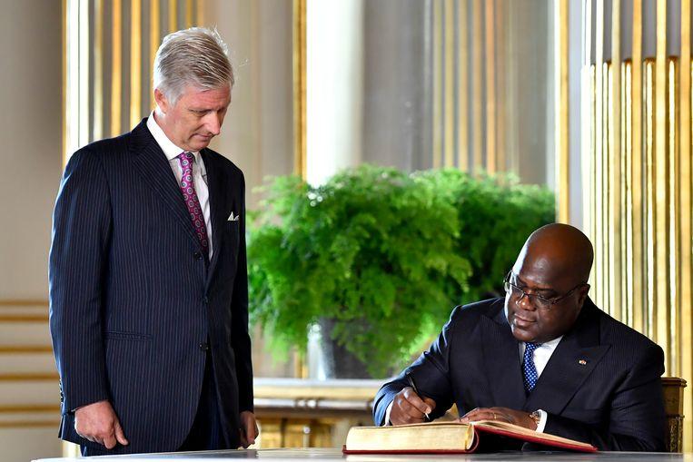Koning Filip en de Congolese president Félix Tshisekedi.