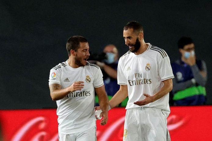 Eden Hazard en Karim Benzema.