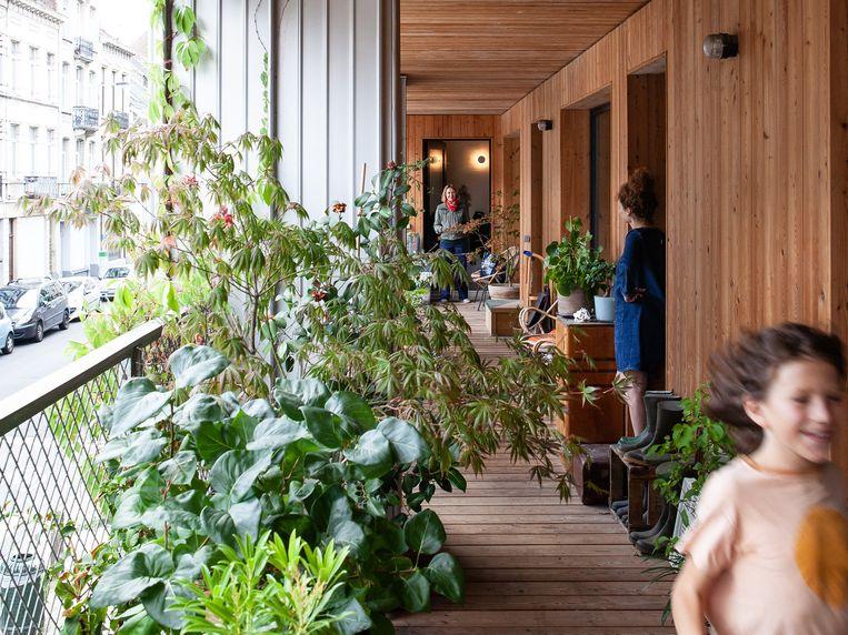 Brutopie, een cohousingproject met appartementsblokken in Brussel.