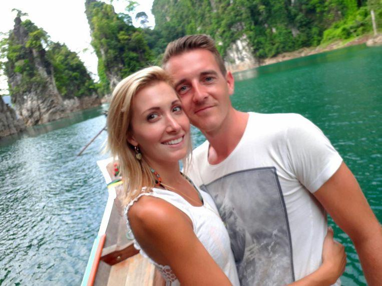 Maxime en Noël op hun droomreis in Thailand.