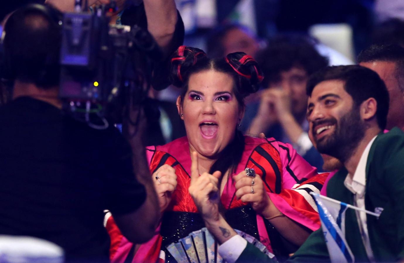 Zangeres Netta wint het Songfestival.