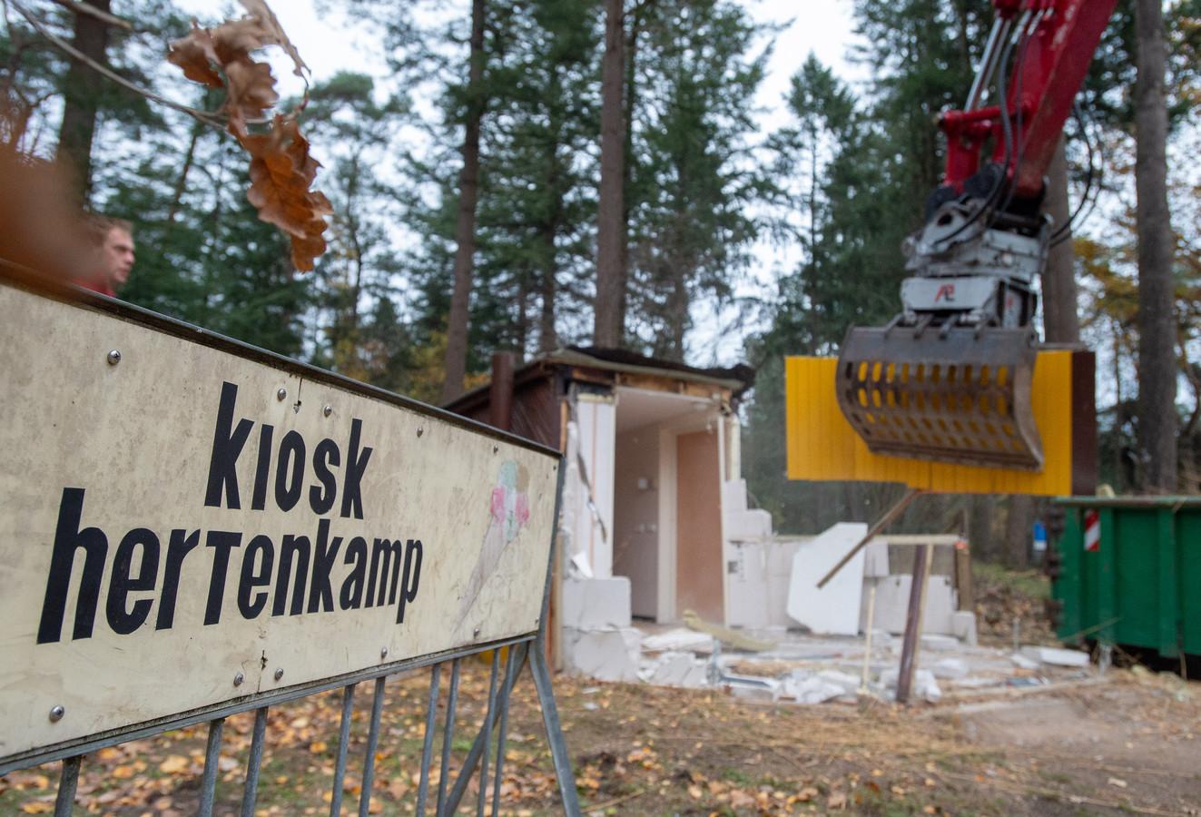 Afgelopen november is de kiosk bij het Hertenkamp gesloopt.