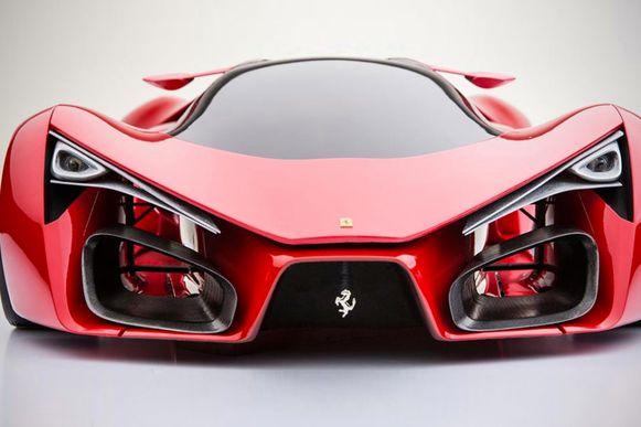 Zo zou de elektrische supersportwagen van Ferrari eruit kunnen zien