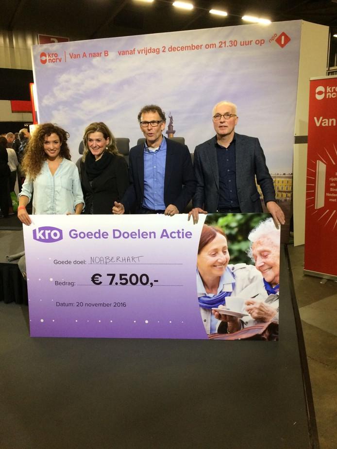 Op de landelijke KRO-ledendag wist de stichting Noaberhart uit Rossum de derde prijs en daarmee een bedrag van 7500 euro in de wacht te slepen.
