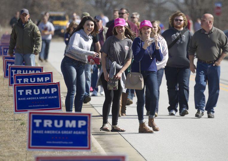 Aanhangers van Trump. Beeld null