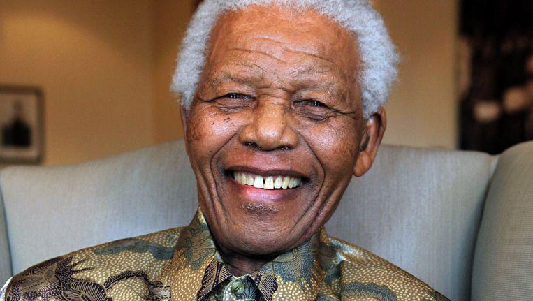 Nelson Mandela op 25 augustus 2010. Beeld AFP
