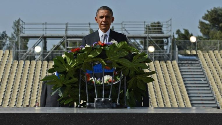De Amerikaanse president Barack Obama in Israël.