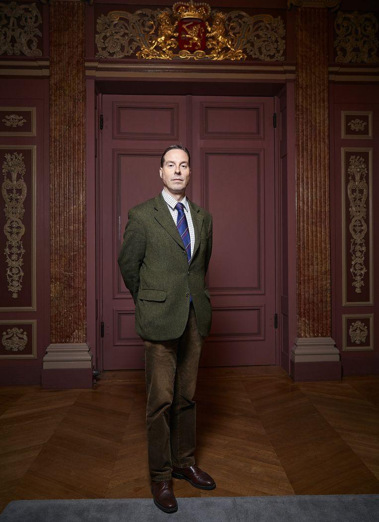 Directeur-generaal van de RVD, Stephan Schrover. 'Als het spannend wordt, gaat hij niet zenuwachtig rondrennen.' Beeld Foto Phil Nijhuis / ANP