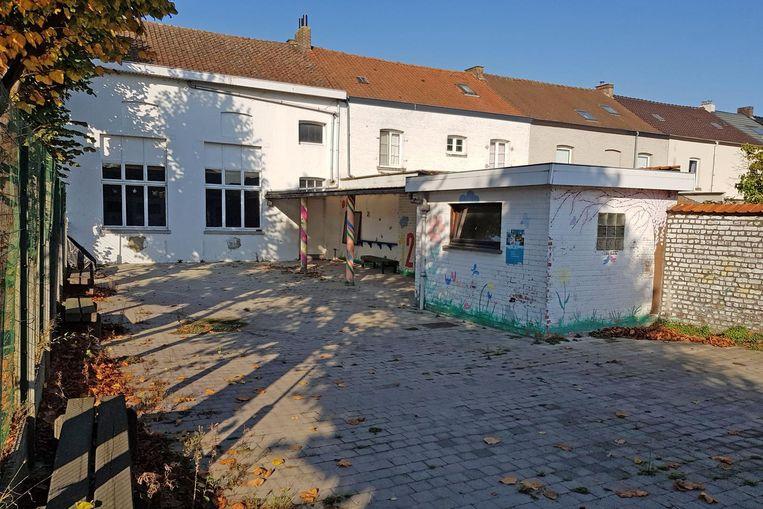 Het oude kleuterschooltje in de Frans Walravensstraat werd in de jaren 40 van vorige eeuw gebouwd.