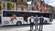 Twee nieuwe bussen omgetoverd tot rijdende promo voor Ros Beiaardommegang