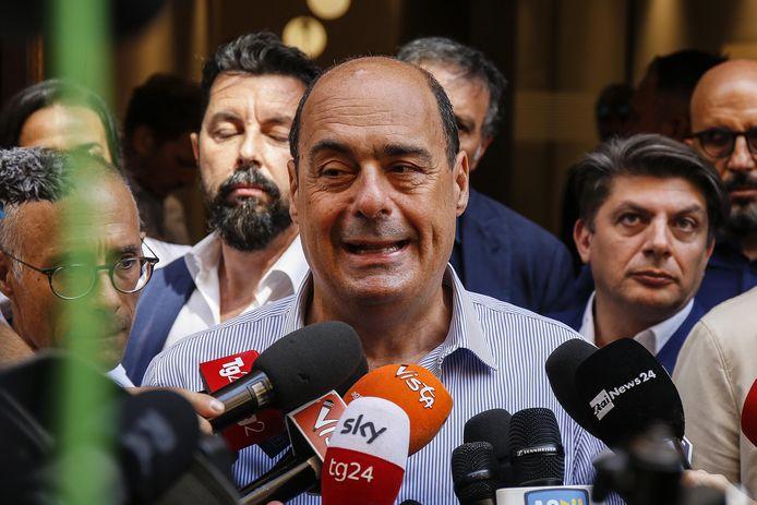 Nicola Zingaretti, partijleider van de centrumlinkse PD.