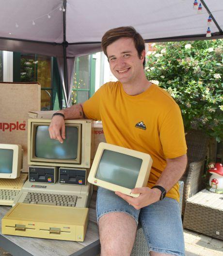Nick (21) uit Oosterland heeft een van de grootste Apple-verzamelingen van Nederland