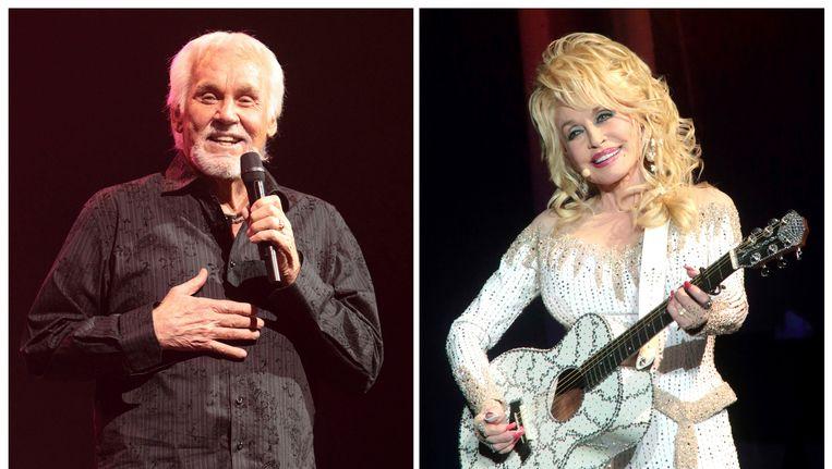 Kenny Rogers en Dolly Parton Beeld ap