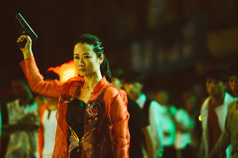 Zhao Tao als gangsterliefje Qiao in 'As is the Purest White'.  Beeld TRBEELD