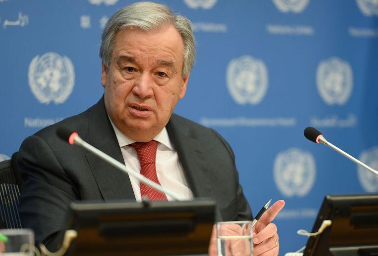 Secretaris-generaal van de Verenigde Natie  António Guterres.     Beeld AFP