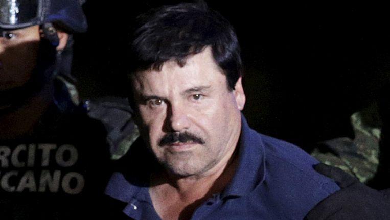 Joaquin Guzman, beter bekend als 'El Chapo', bij zijn arrestatie op 8 januari 2016.