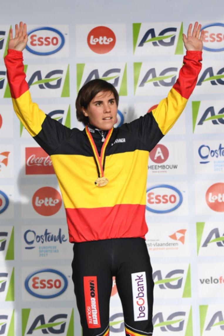 Sanne Cant pakte in Oostende haar achtste BK-titel.
