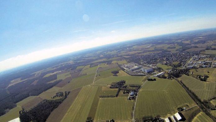 Eén van de foto's die de weerballon maakte