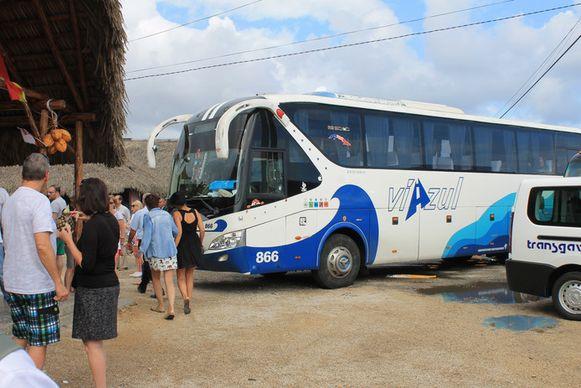Een bus van de betrokken maatschappij op een archiefbeeld.